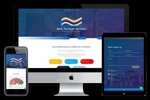 iphone imac en ipad met website screenshots erop